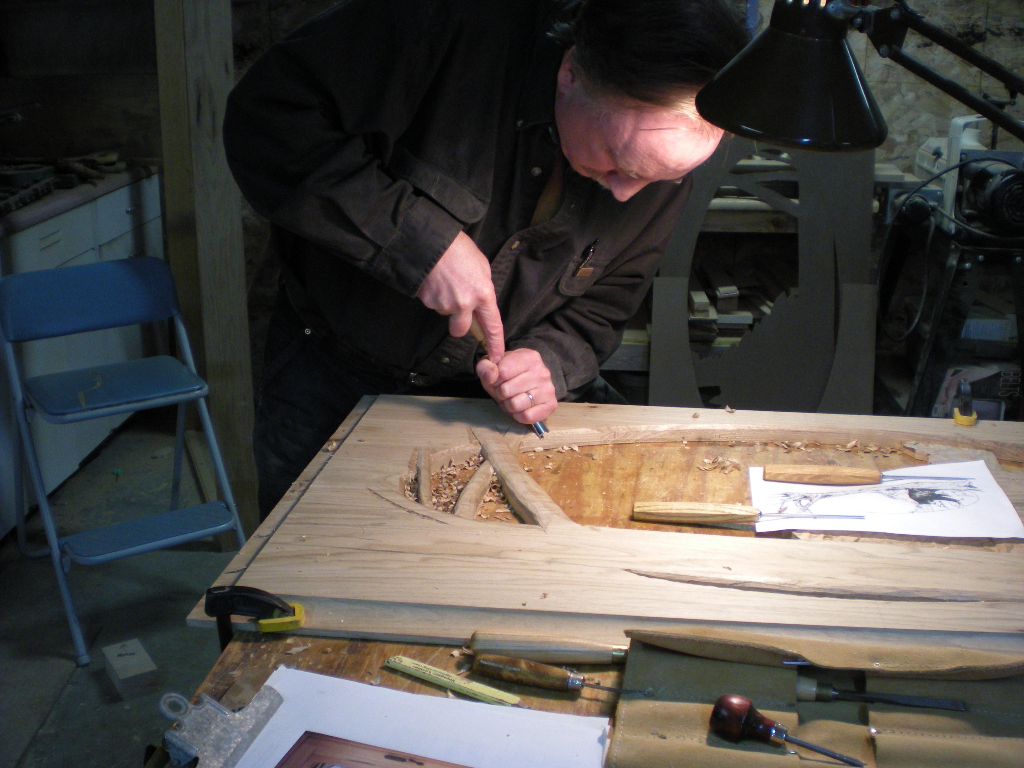woor carving, sustom carved maple door