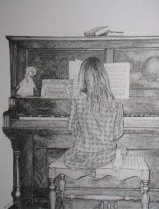 Pencil drawing, John Huisman, artist, Ely, MN, minnesota