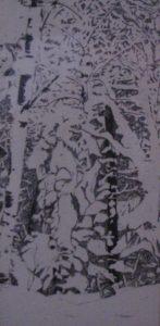 """""""Winter Wolf"""", pen & ink"""